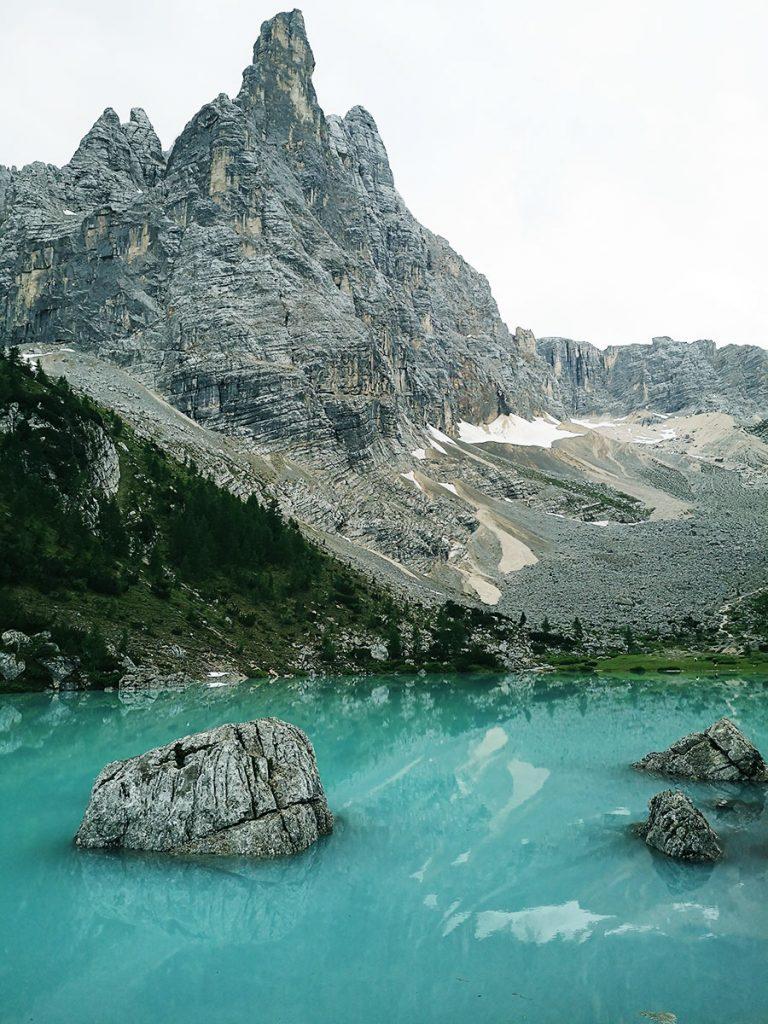 Sorapis Lake and finger of God - Dobbiaco - Dolomites