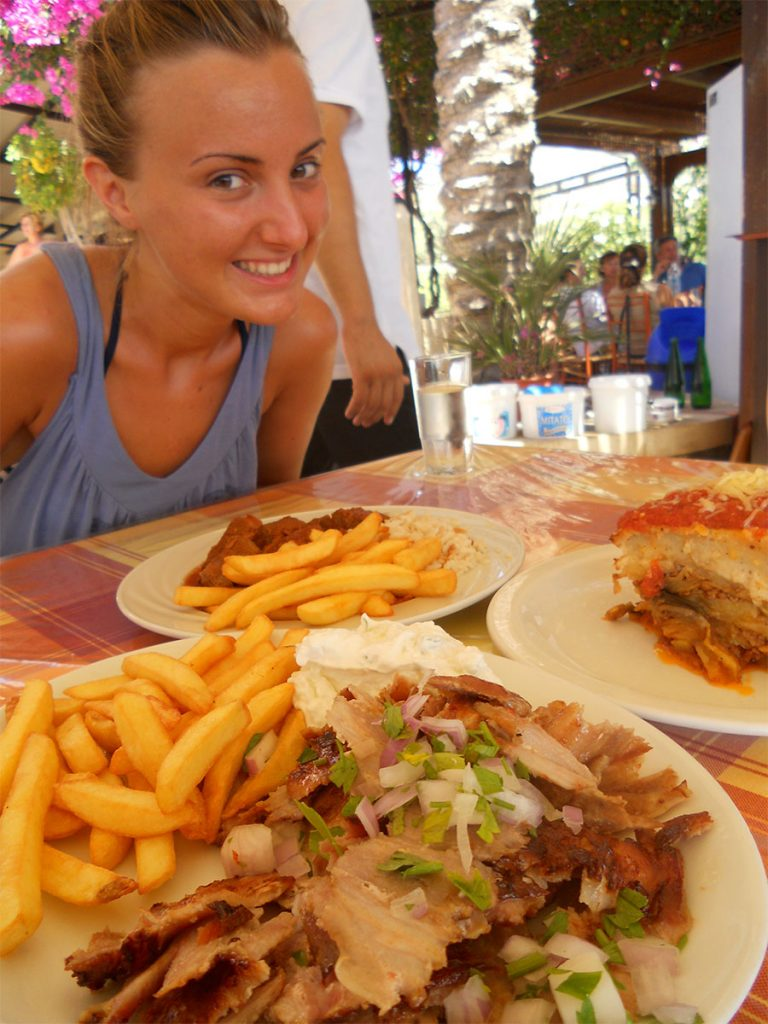 Gyros and Moussaka - Rhodes - Greece